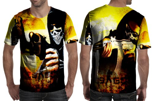 Counter-Strike: Global Offensive Awesome Design T-shirt Full Print Sublimation For Man Size S