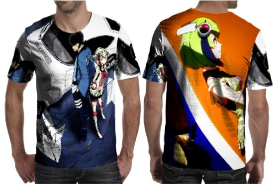 Dimention W Special Character T-shirt Full Print Sublimation For Man Size S