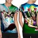 Dimention W Special Design T-shirt Full Print Sublimation For Woman Size M