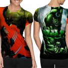Marvel Character : the giant green hulk T-shirt FullPrint For Woman Size S
