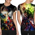 Marvel Movie : all characters avengers T-shirt FullPrint For Woman Size S
