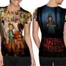 Stranger Things American Science Art 3 T-shirt FullPrint For Woman Size M