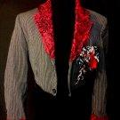 Pinstriped Tuxedo Jacket
