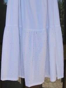Classy Sassy Couture ladies white cotton eyelet layering half slip