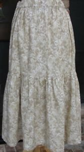 Classy Sassy Couture ladies beige floral cotton layering half slip