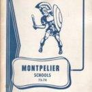 1974 Montpelier Schools Yearbook K~8 Indiana