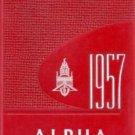 1957 State Teachers College The Alpha Yearbook Bridgewater Massachusetts