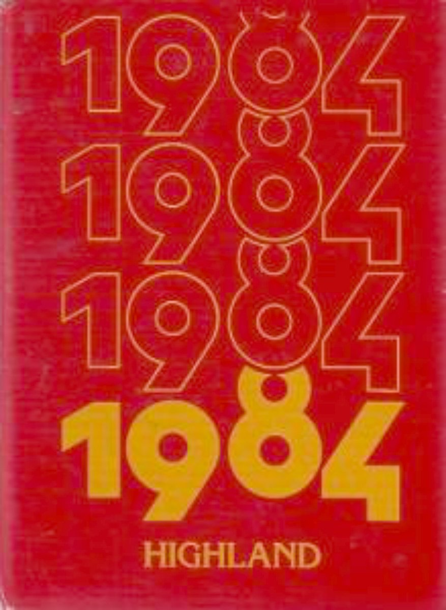 1984 Highland Middle School Yearbook ~ Michigan