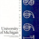 1998 University of Michigan New Student Record Yearbook Michigan
