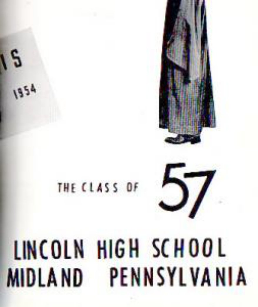 1957 Midland Lincoln High School Yearbook Pennsylvania
