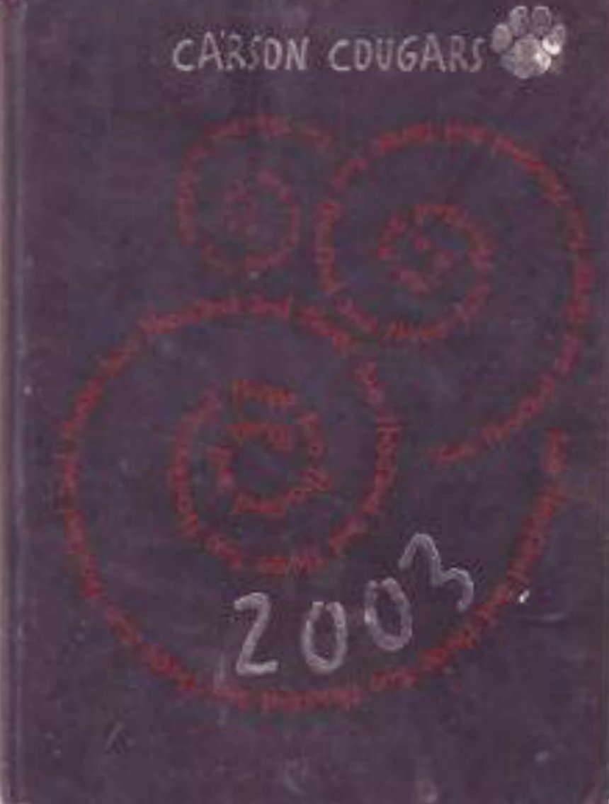 2003 Carson Junior High School Yearbook Mesa Arizona