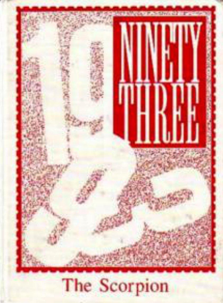 1993 Desert Foothills Middle School Scorpion Yearbook