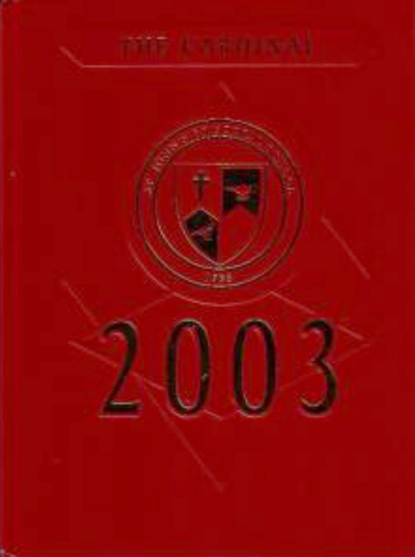 2003 St Johns Episcopal School Yearbook Santa Margarita