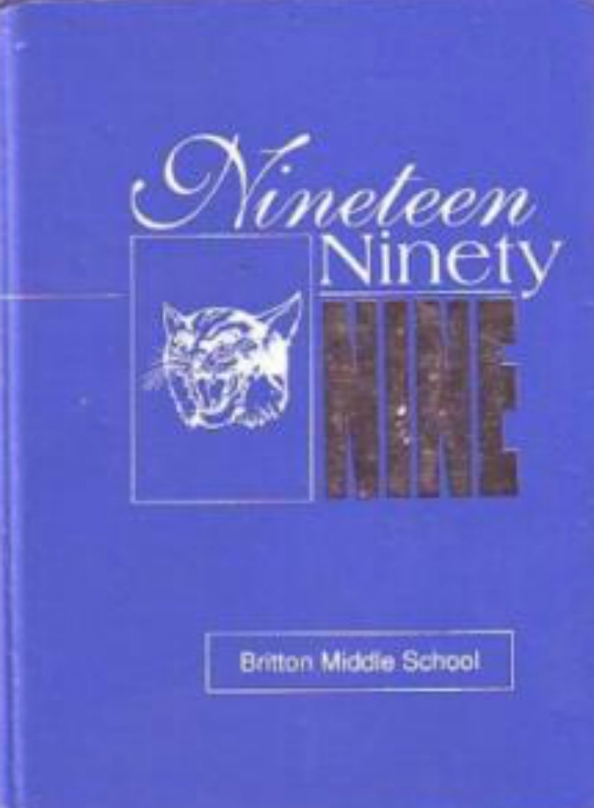 1999 Britton Middle School Yearbook Morgan Hill Calif