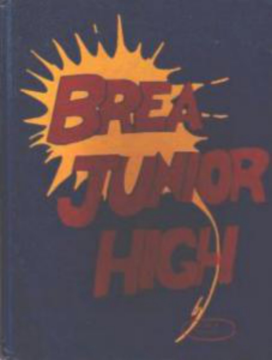 1974 Brea Junior High School Yearbook California