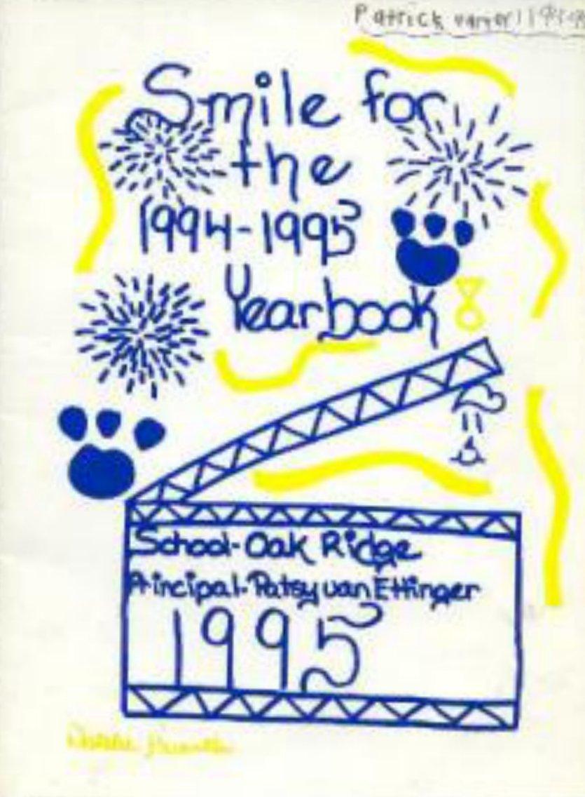 1995 Oak Ridge Elementary School Yearbook San Jose CA