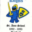 1993 St Saint Anne School Yearbook Laguna Niguel California