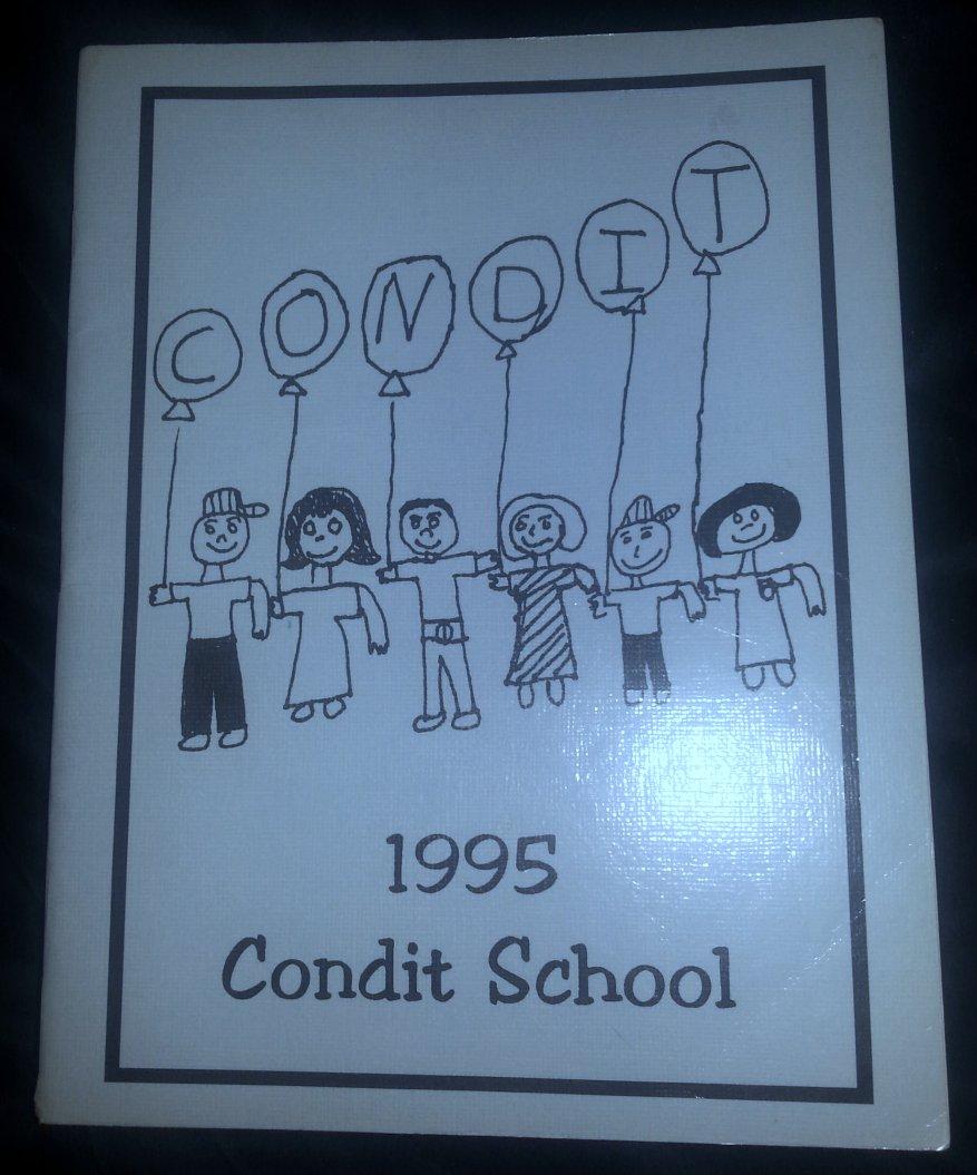 1995 Condit Elementary School Yearbook Claremont Calif