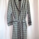 Men's Robe Roundtree & Yorke 100% Cotton Grey and Black Checks