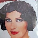 Wig Flapper Wavy Black Styled  Theatrical Roaring 20's  Black