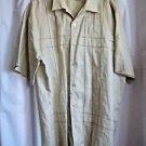 Maxini Men's Shirt XL 100% Linen Beige Casual Dress Shirt