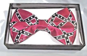 Bow Tie Confederate Red Blue and White Gift Box