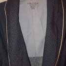 "Nautica Men's Robe Small/Medium  Blue White Dots  100% Cotton  46"" Chest"