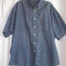Dockers Casual Shirt Men's Extra Large Blue Geometric Print 100% Cotton