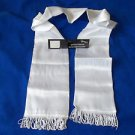 "Scarf White Satin Finish Fringe Scarves 74""x6"" Aviator Pilot  Sash"