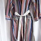 Men's Robe Jockey One Size Polyester and Cotton Grey Multi Color Stripes