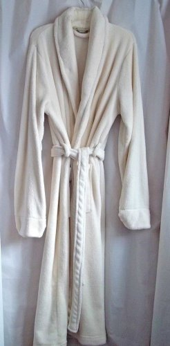 Men's Robe Royal Velvet L/XL White Soft Polyester Warm