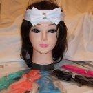 Headband Rhinestone  Hair Decoration Black White Pink Aqua Green Peach Stretch D