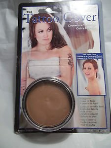 Mehron Tattoo Cover TC 2 Light Medium Professional Makeup Flaw Concealer