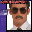 "Moustache Gentlemen Human Hair Black or Brown or Gray 3 1/2"" Forum"
