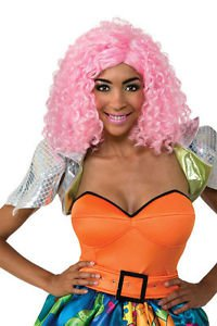 Pink Curley Wig One Size  Nicki Minaj Pink Curly Wig Great HIP HOP DIVA Look!