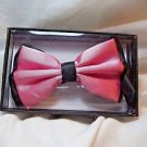 Bow Tie Pink and Black Polyester Hook and Clip Gift Box