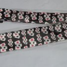 "Gamblers Poker  Men's Tie  Black Playing Cards 60"" Long Narrow Polyester NEW"