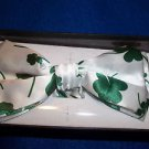 Irish Shamrock  Bow Tie  Stylish Hook and Clip Bowtie  Polyester Gift Box
