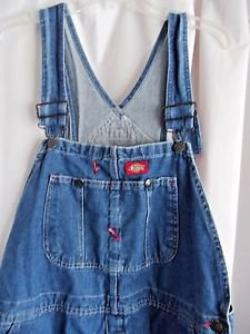 Dickies Overalls Blue Denim Dickies Waist 40 Inseam 30 100% Cotton