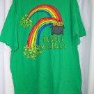 Irish Green St Patricks Men's Shirt 2XL Gildan Heavy Cotton Pot of Gold Rainbow