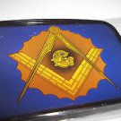 Masonic  Belt Buckle Blue Rectangle Gold Ensigna