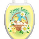 Toilet Tattoos Easter Decor  Yellow Chicks Lid Decor Vinyl Reusable   Spring