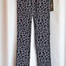 Women Stretchy Print Leggings High Waisted Cheetah Jacquard Fleece