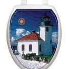 Toilet  Tattoos Lighthouse Vinyl Lid Cover Reusable Decoration
