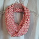 """Scarves Infinity Scarf Autumn White and Tangerine 60"""" Long Polyester Scarves"""