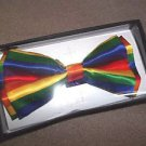 Rainbow  Bow Tie Polyester NEW in gift box clip and hook adjustable 4 3/4