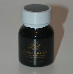 Theatrical  Makeup  Black Body and Hair Mehron Liquid Makeup Free Shipping