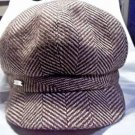 Gap Newsboy Hat Brown Tweed Small/Medium Wool and Polyester