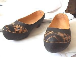 Shoes Wooden Hand Made Size 7 Good Condition Decoration Collectible