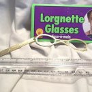 Eyeglasses  Gold Metal Lorgnette Fancy Holder Theatrical Dress  Ships Free
